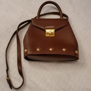 Vintage Salvatore Ferragamo 2-Way Brown/Gold Bag